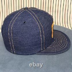 097 Denim Louisville MFG Trucker Hat Snapback Cap Patch CAT Diesel Power Vintage