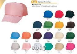 100 Trucker Baseball Cap Mesh Snapback Retro Hat 39 Color Choice Wholesale Lot