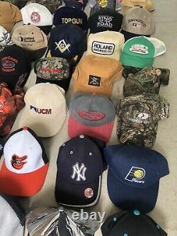 135 Lot Vintage Trucker Hat Snapback Cap Patch K Brand USA Farm Marines