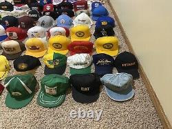 160 HATS VINTAGE 70s 80s 90s SNAPBACK TRUCKER HAT COLLECTION CAPS CAP LOT