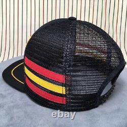 295 Million Dollar Question 3 Stripe Mesh Trucker Hat Three Stripe Snapback Cap