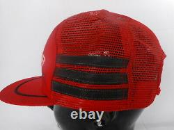 3 Stripe Cap Hat Snapback COOP Fertilizer Freeman SD South Dakota Red Flat Bill