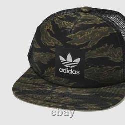 Adidas Originals Mens CAMO Trucker Cap Snapback Mesh Hat One Size Khaki/Camo