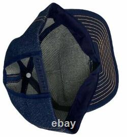 Denim Louisville MFG Trucker Hat Cap Padgett Crane USA Made Vintage Snapback