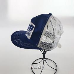 Ford Tractor Vintage Hat 80's Snapback Trucker Mesh Foam Patch K Brand Cap EUC