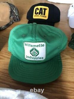 HATS VINTAGE 70s 80s 90s SNAPBACK TRUCKER HAT COLLECTION CAPS CAP LOT