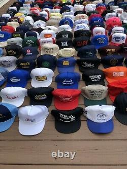 HUGE 187 Vintage To Now Trucker Baseball Hat Cap Lot Strapback SnapBack AS IS