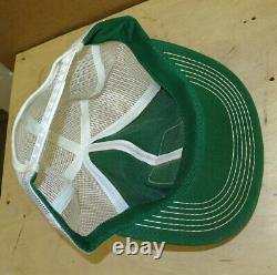 John Deere 1980's Green White Snapback Trucker's Mesh Hat Cap ORIGINAL 2-legDEER