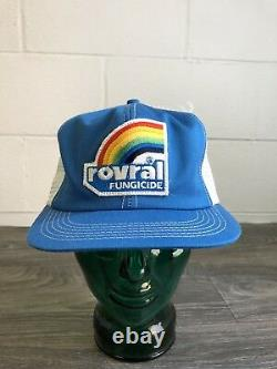 K Brand Snapback Hat Rovral Fungicide Vtg 70s Trucker Mesh Rainbow Patch Usa Cap
