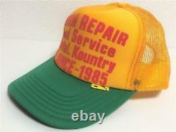 Kapital kountry DENIM REPAIR SERVICE PT 2TONE truck cap hat trucker gold green