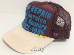Kapital kountry DENIM REPAIR SERVICE PT 2TONE truck cap hat trucker natural enji
