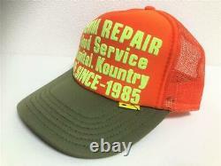 Kapital kountry DENIM REPAIR SERVICE PT 2TONE truck cap hat trucker orange khaki