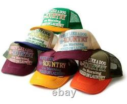 Kapital kountry WORKING PUKING PT 2TONE truck cap hat trucker green gold