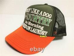 Kapital kountry WORKING PUKING PT 2TONE truck cap hat trucker khaki orange