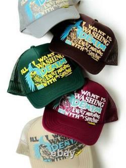 Kapital kountry Washing Denim truck cap hat trucker brown new
