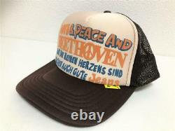 Kapital kountry love&peace beethoven truck cap hat trucker brand new brown kinar