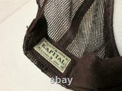 Kapital kountry love&peace beethoven truck cap hat trucker brand new brown natur