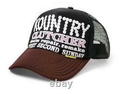 Kapital kountry pearl clutcher truck cap hat trucker black brown