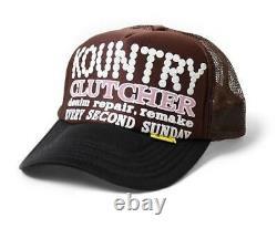 Kapital kountry pearl clutcher truck cap hat trucker brown black