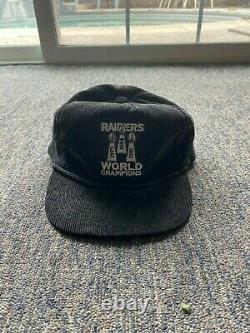 Los Angeles Raiders Vintage 90s corduroy kings trucker hat rope Snapback Cap