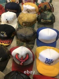 Lot Vintage Trucker Hat Snapback Cap Patch K Brand Product USA Farm