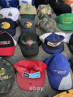 Lot Vintage Trucker Hat Snapback Cap Patch K Brand USA Mesh Farm