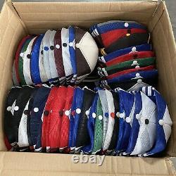 Lot of 150 RANDOM Vintage 3 Stripe Bar Trucker Hat Snapback Cap Three Mesh 80s