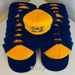 Lot x 21 VTG 80s CAT DIESEL POWER Caterpillar Snapback Trucker Hat Cap DEADSTOCK