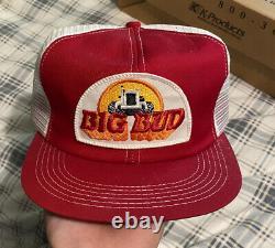 NOS Vintage BIG BUD Tractors Snapback Trucker Hat Cap 70s RARE K Products