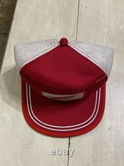NOS Vintage Red Wing Shoes SnapBack Trucker Hat Cap Made In USA Size L Deadstock