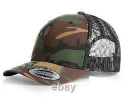 New Camouflage Flexfit Mesh Snapback Cap Baseball Trucker Golf Era Peak Camo Hat