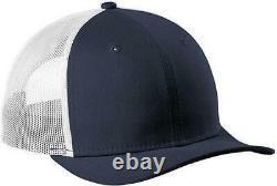 New Era 9FORTY Trucker Adjustable Snapback Mesh Back Hat Deep Navy White Cap 940