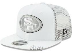 New Era Black White San Francisco 49ers Shanahan square trucker snapback hat cap