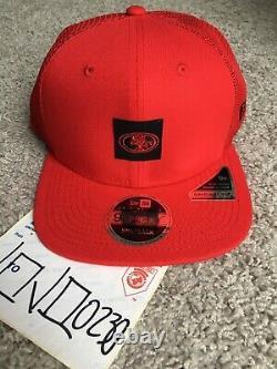New Era scarlet San Francisco 49ers Shanahan square trucker 100 snapback hat red