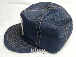 New Vintage 70s Allis Chalmers Denim Louisville Mfg Co Snapback Trucker Hat Cap