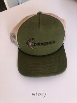 Patagonia Hat Flying Fish Snapback Trucker Mesh Rare Vintage Rare Cap Nature