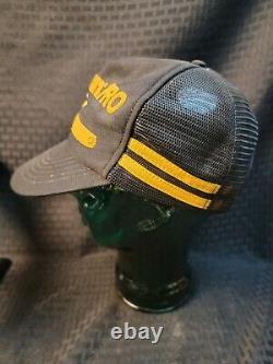 Poulan Pro Snapback Trucker Hat 2 Two Stripe Mesh Chainsaw Cap Black Yellow 3