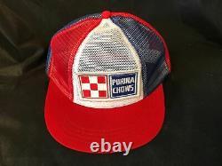 Purina Chows Snapback All-Mesh Trucker / Farmer Hat Advertising Farm Cap