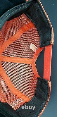 RARE VTG Dale Jarrett NASCAR Patch 3 Stripe Trucker Mesh Snapback Hat Cap USA