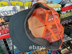 RARE Vintage Dale Jarrett NASCAR Patch 3 Stripe Trucker Mesh Snapback Hat Cap