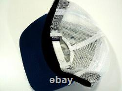 Rare Patagonia Bear Moon Trucker Style Hat Cap White/Blue Snapback