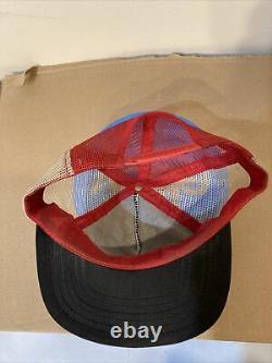 Rare Vintage 70s 80s Snapback Mesh Trucker Hat Cap Dixie South Rebel Pinwheel