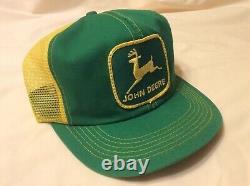 Rare Vintage John Deere Hat SnapBack Trucker Cap K-Products USA Patch