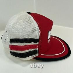 Rare Vintage MOTORCRAFT 3 Stripe Trucker Hat Snapback Cap Made in USA Excellent