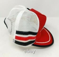 Rare Vintage Motorcraft Quality Parts Trucker 3 Stripe Cap Hat USA Made