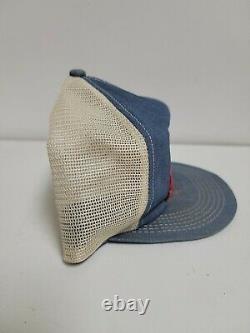Rare Vintage STIHL TRUCKER PATCH HAT CAP K-Products Denim Snapback CHAINSAW