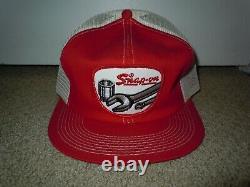 SNAP-ON TOOLS Vtg Patch Logo Adjustable Snapback Mesh Trucker Cap Hat K-Brand
