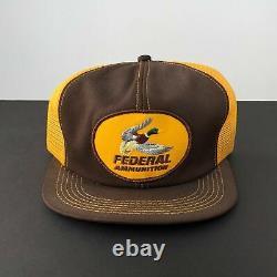 Trucker Hat Vintage Patch FEDERAL AMMUNITION Gun Rifle K-Brand Snapback Cap USA
