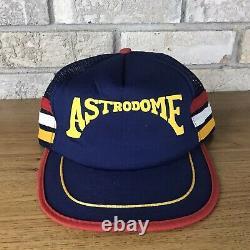 VINTAGE 3 Stripe Houston Oilers Astros Astrodome Texas Trucker Mesh SnapBack Hat