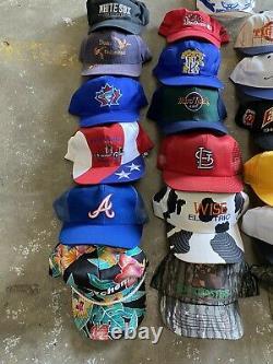 VINTAGE HAT LOT (25) TRUCKER HAT 90s SNAPBACK CAP